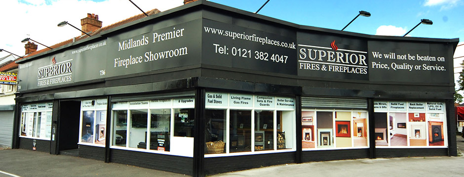 Superior Fireplaces Showroom in Birmingham & Sutton Coldfield