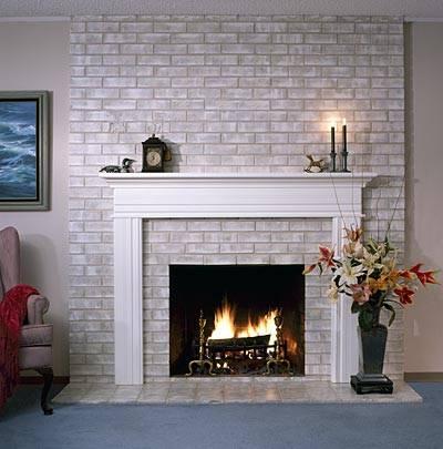 80's fireplace